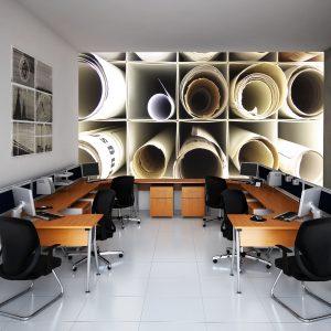 Fotomural Decorativo Oficina: Planos de trabajo
