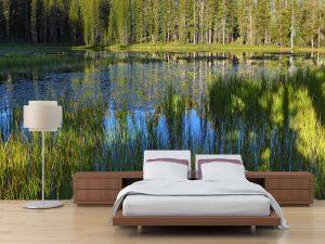 Fotomural Decorativo para Dormitorio:  Reflejo Laguna