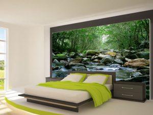 Fotomural Decorativo Dormitorio: Río y Rocas