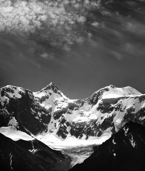 Montaña en B/N