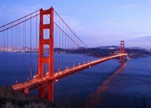 Fotomural Decorativo para  Sala: Puente de San Francisco