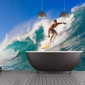 Fotomural Decorativo Baño: Surfista