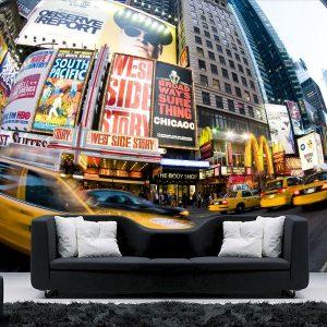 Fotomural Decorativo para Sala: Taxis en New York