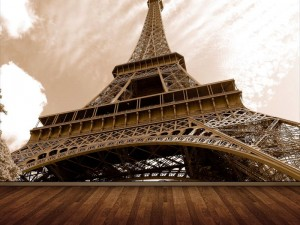 Fotomural Decorativo para Sala: Torre Eiffel