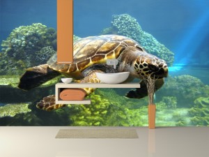 Fotomural Decorativo Baño: Tortuga marina