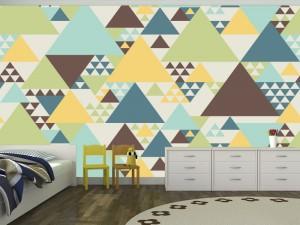Fotomural Decorativo Diseños Abstractos: Triangulos colores terrestres