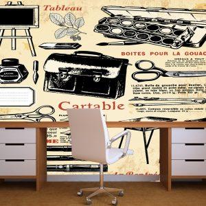 Fotomural Decorativo Oficina: Utiles de artista