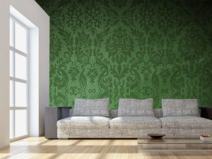 Fotomural Decorativo para Sala: Vintage Verde