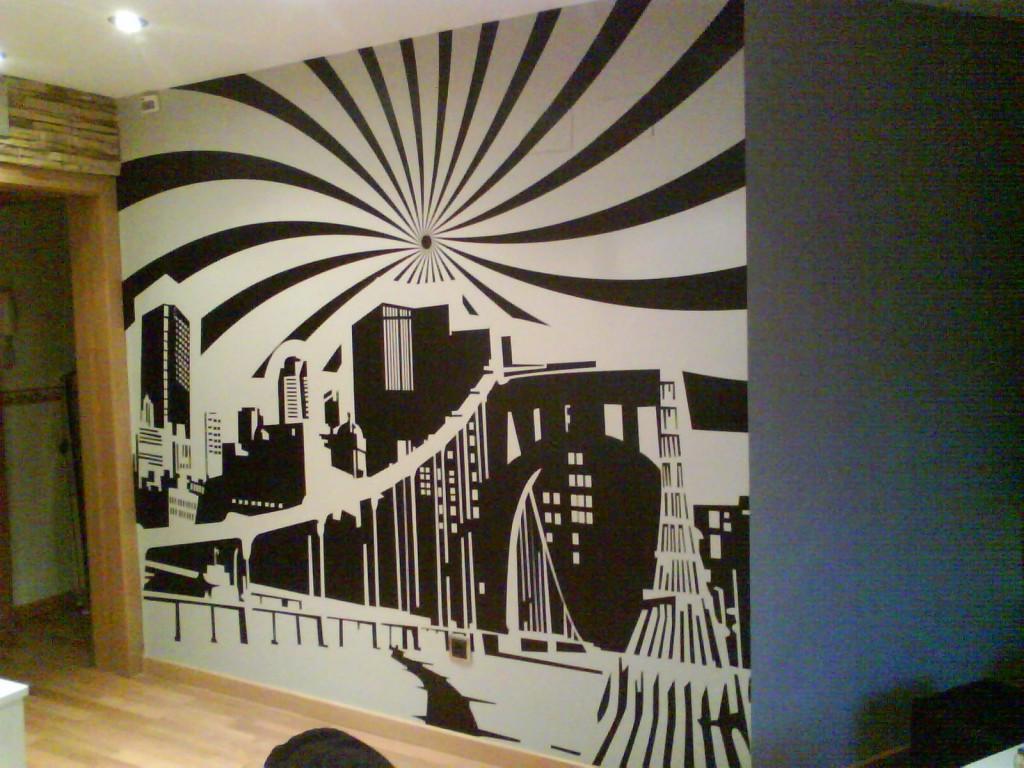 Vinilos decora tus espacios for Vinilos pared ciudades