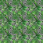 Fotomurales-Mexico-papeles-pintados-hojas-de-palmera-tropical-modelo-fondo-geometrico 1