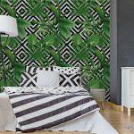 Fotomurales-Mexico-papeles-pintados-hojas-de-palmera-tropical-modelo-fondo-geometrico 3