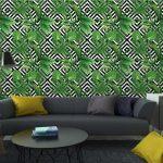 Fotomurales-Mexico-papeles-pintados-hojas-de-palmera-tropical-modelo-fondo-geometrico 4