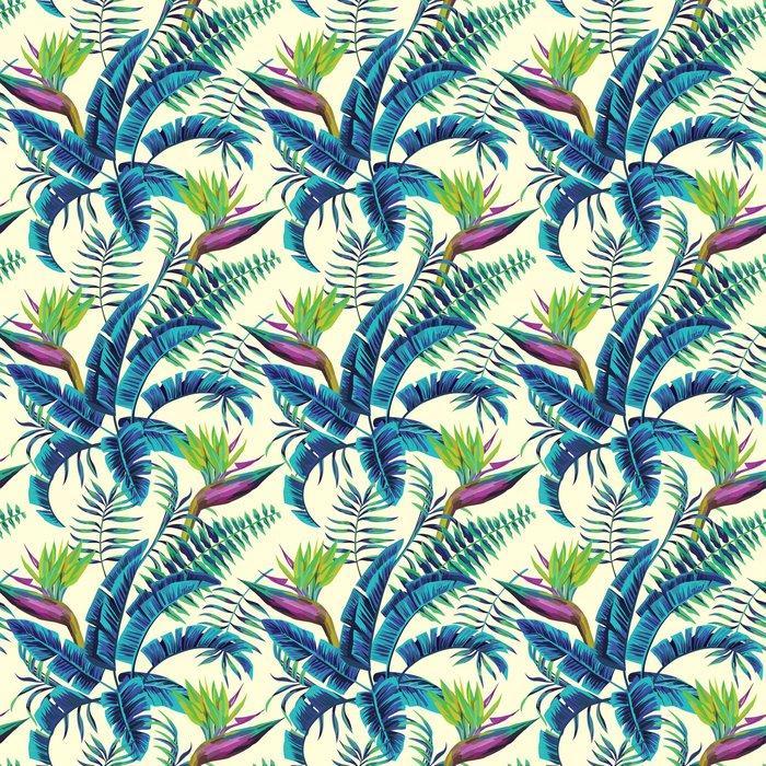 Fotomurales Mexico papeles pintados lavables fondo transparente de la pintura exotica tropical1 - Papel Tapiz Patrón Hojas Verde Turquesa en Fondo Blanco 01