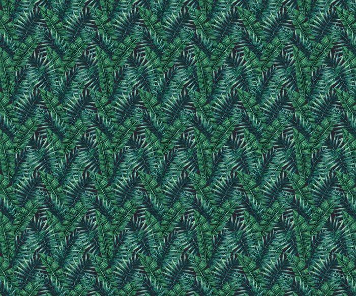 Fotomurales Mexico papeles pintados lavables palmera tropical de la acuarela deja patron transparente ilustracion del vector 1 - Papel Tapiz Hojas Tropicales en Fondo Negro 02
