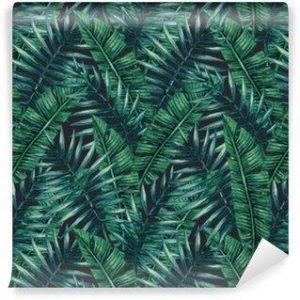 Fotomurales Mexico papeles pintados lavables palmera tropical de la acuarela deja patron transparente ilustracion del vector 300x300 - Papel Tapiz