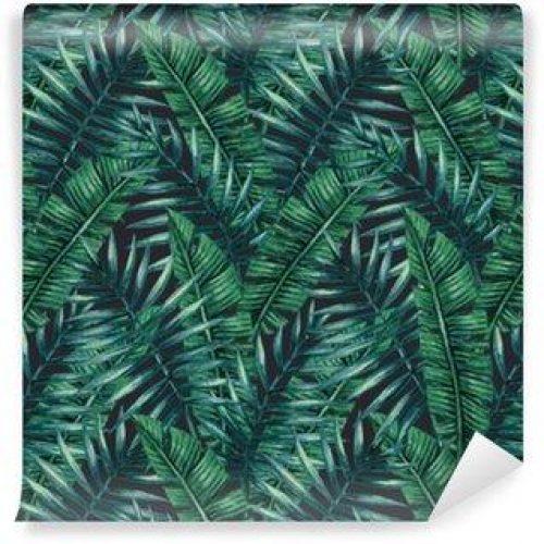 Fotomurales Mexico papeles pintados lavables palmera tropical de la acuarela deja patron transparente ilustracion del vector 500x500 - Fotomurales Papel Tapiz Tropical y Naturaleza
