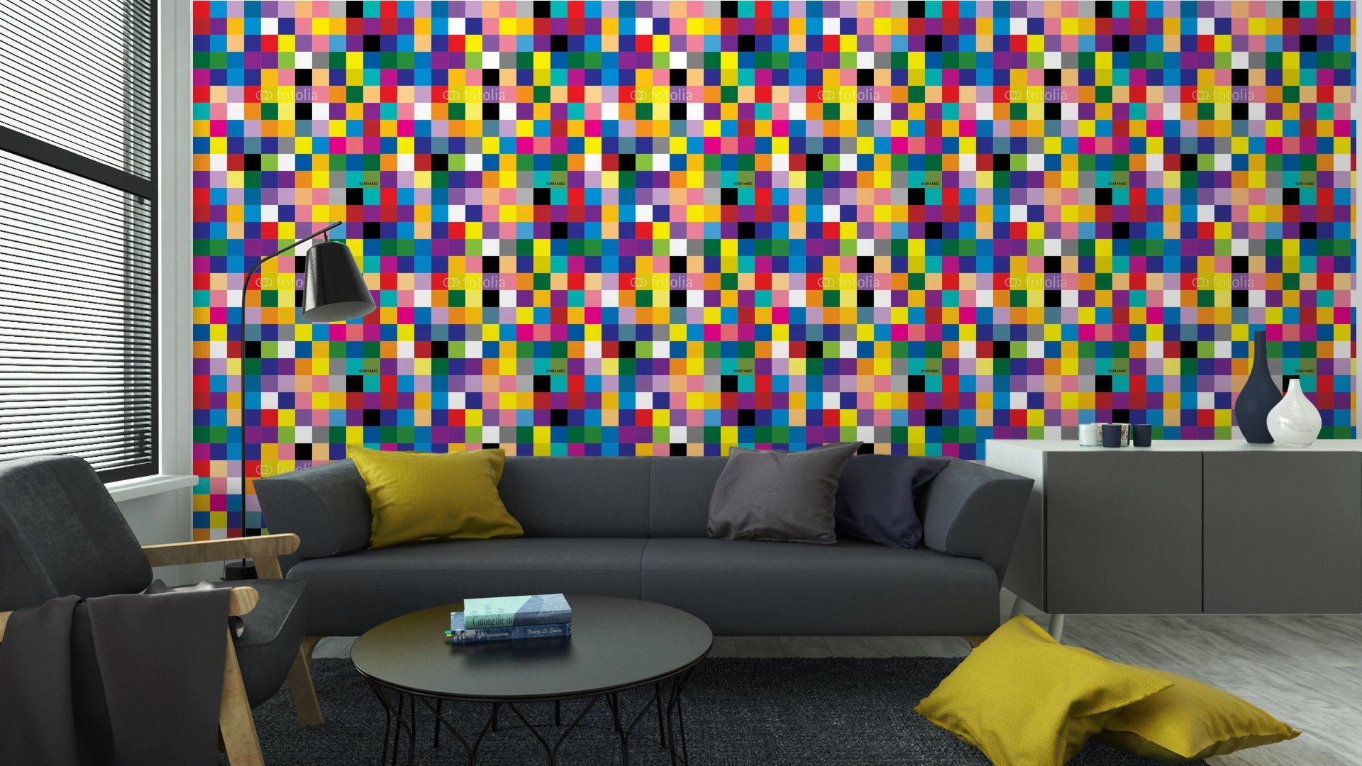 Fotomurales mexico papeles pintados abstracto cuadrado 6 - PapelTapizAbstracto Cuadros de Colores 01