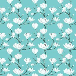 Fotomurales mexico papeles pintados autoadhesivos blue magnolia pattern 1 300x300 - Papel Tapiz