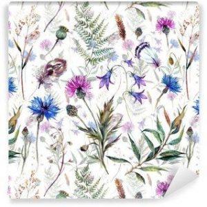 Fotomurales mexico papeles pintados autoadhesivos dibujados a mano flores silvestres acuarela 300x300 - Papel Tapiz