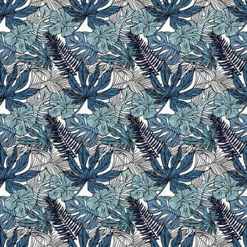 Fotomurales mexico papeles pintados autoadhesivos flores exoticas tropicales y plantas con hojas verdes de palma 1 500x500 - Papel Tapiz Flores Exóticas Tropicales con Hojas Verdes de Palma