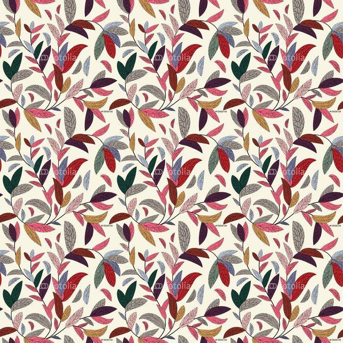 Fotomurales mexico papeles pintados autoadhesivos fondo floral sin fisuras 1 - Papel Tapiz Hojas y Flores Tipo Acuarela en Fondo Blanco 03