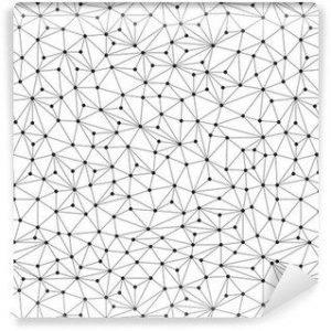 Papel Tapiz Patrón Poligonal Fondo Blanco 01