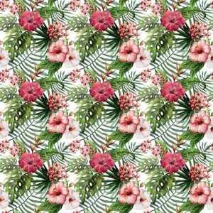 Fotomurales mexico papeles pintados autoadhesivos hibisco patron de la orquidea deja tropicos acuarela 1 300x300 - Papel Tapiz