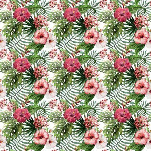 Fotomurales mexico papeles pintados autoadhesivos hibisco patron de la orquidea deja tropicos acuarela 1 500x500 - Decoración de Oficinas y Empresas