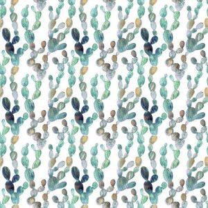 Papel Tapiz Cactus Fondo Blanco Estilo Acuarela 01