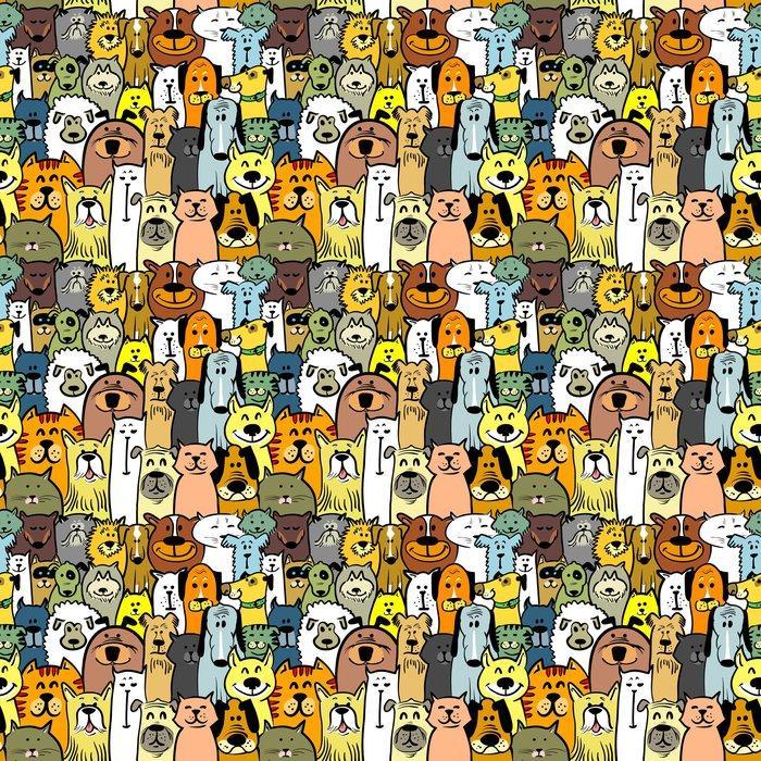 Fotomurales mexico papeles pintados autoadhesivos perros y gatos 1 - Papel Tapiz Perros y Gatos 01