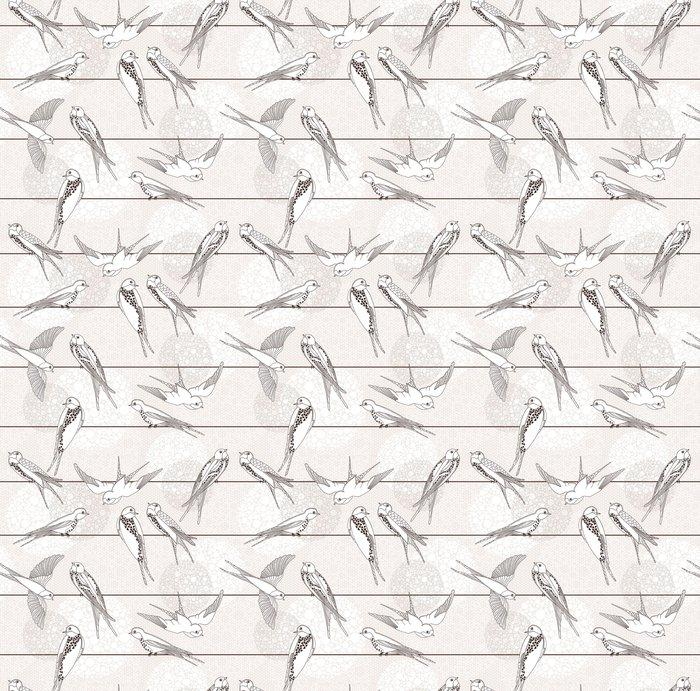 Fotomurales mexico papeles pintados autoadhesivos resumen sin patron aves en los cables 1 - Papel Tapiz Aves Monocromo 01