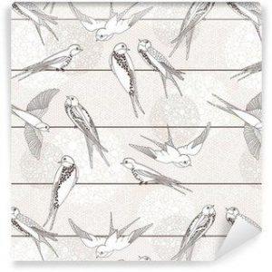 Fotomurales mexico papeles pintados autoadhesivos resumen sin patron aves en los cables 300x300 - Papel Tapiz