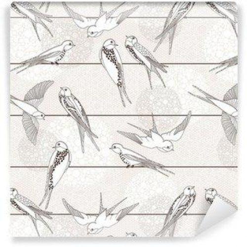 Fotomurales mexico papeles pintados autoadhesivos resumen sin patron aves en los cables 500x500 - Fotomurales Papel Tapiz Modernos y Contemporáneos