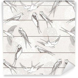 Fotomurales mexico papeles pintados autoadhesivos resumen sin patron aves en los cables - Fotomurales Papel Tapiz Vintage y Old Style