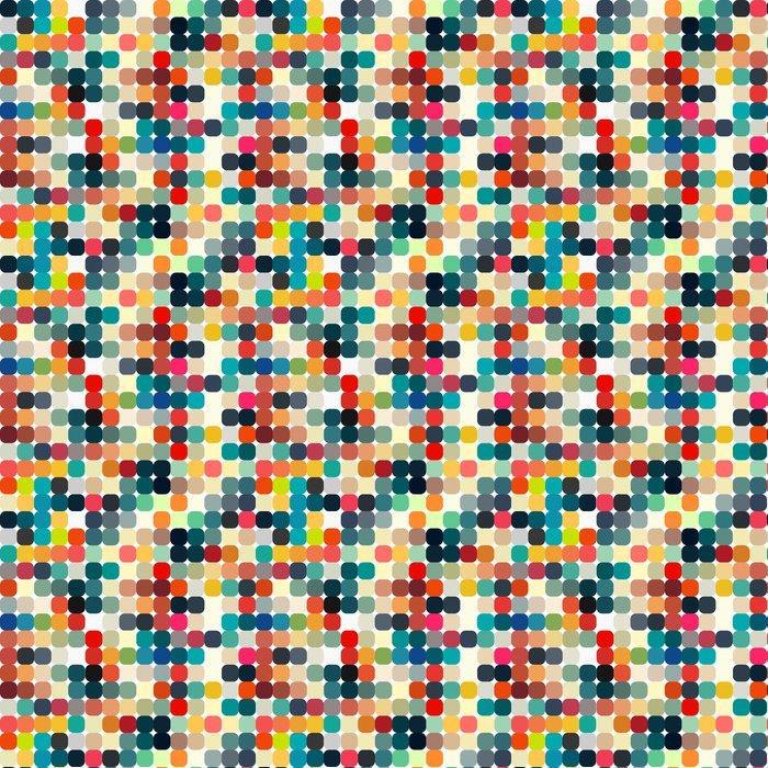 Fotomurales mexico papeles pintados autoadhesivos retro patron geometrico transparente para su diseno 1 - Papel Tapiz Puntos De Colores en Fondo Blanco 04