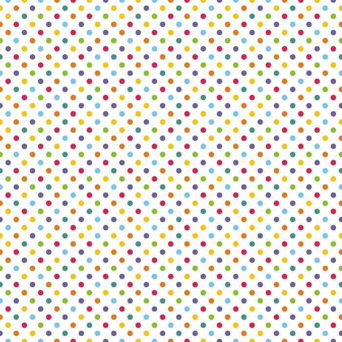 Fotomurales mexico papeles pintados autoadhesivos sin fisuras vector patron o de fondo con colores lunares 1 - PapelTapiz Puntos de Colores en Fondo Blanco 01