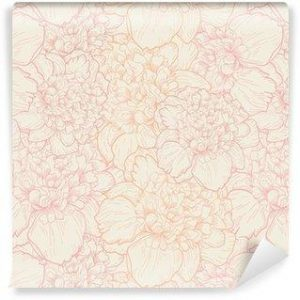 Papel Tapiz Floral Abstracto en Color Rosa Claro 01