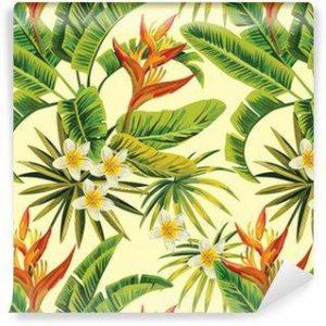 Fotomurales mexico papeles pintados autoadhesivos tropical exotica patron de flores y plantas 300x300 - Papel Tapiz