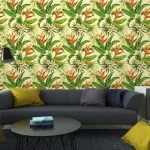 Fotomurales-mexico-papeles-pintados-autoadhesivos-tropical-exotica-patron-de-flores-y-plantas 4