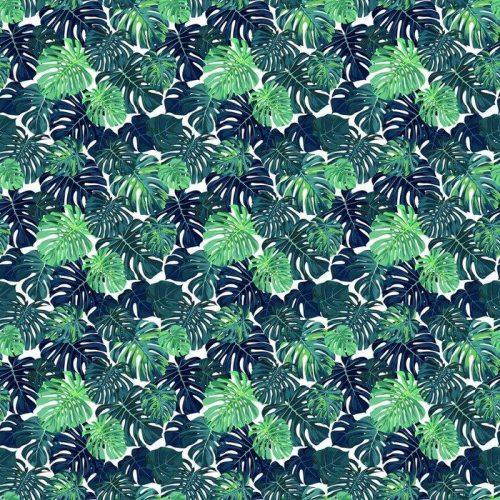 Fotomurales mexico papeles pintados autoadhesivos vector patron de color verde con la palma de monstera deja en el fondo oscuro verano sin fisuras diseno de la tela tropical 1 500x500 - Papel Tapiz Hojas Tropicales en Fondo Blanco 02
