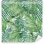Fotomurales-mexico-papeles-pintados-autoadhesivos-watercolor-tropical-palm-leaves-seamless-pattern-vector-illustration