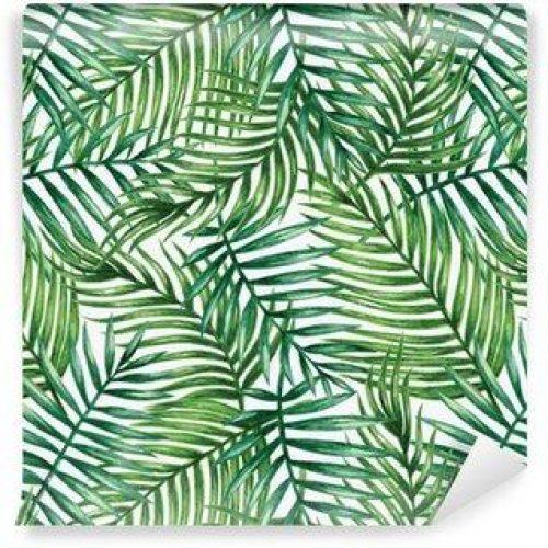 Fotomurales mexico papeles pintados autoadhesivos watercolor tropical palm leaves seamless pattern vector illustration 500x500 - Fotomurales Papel Tapiz Tropical y Naturaleza