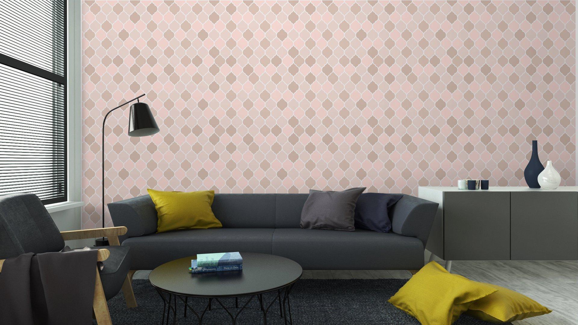 Fotomurales mexico papeles pintados baldosas sin fisuras patron de color rosa vector 5 - PapelTapizGeométrico Tonos Rosa 01