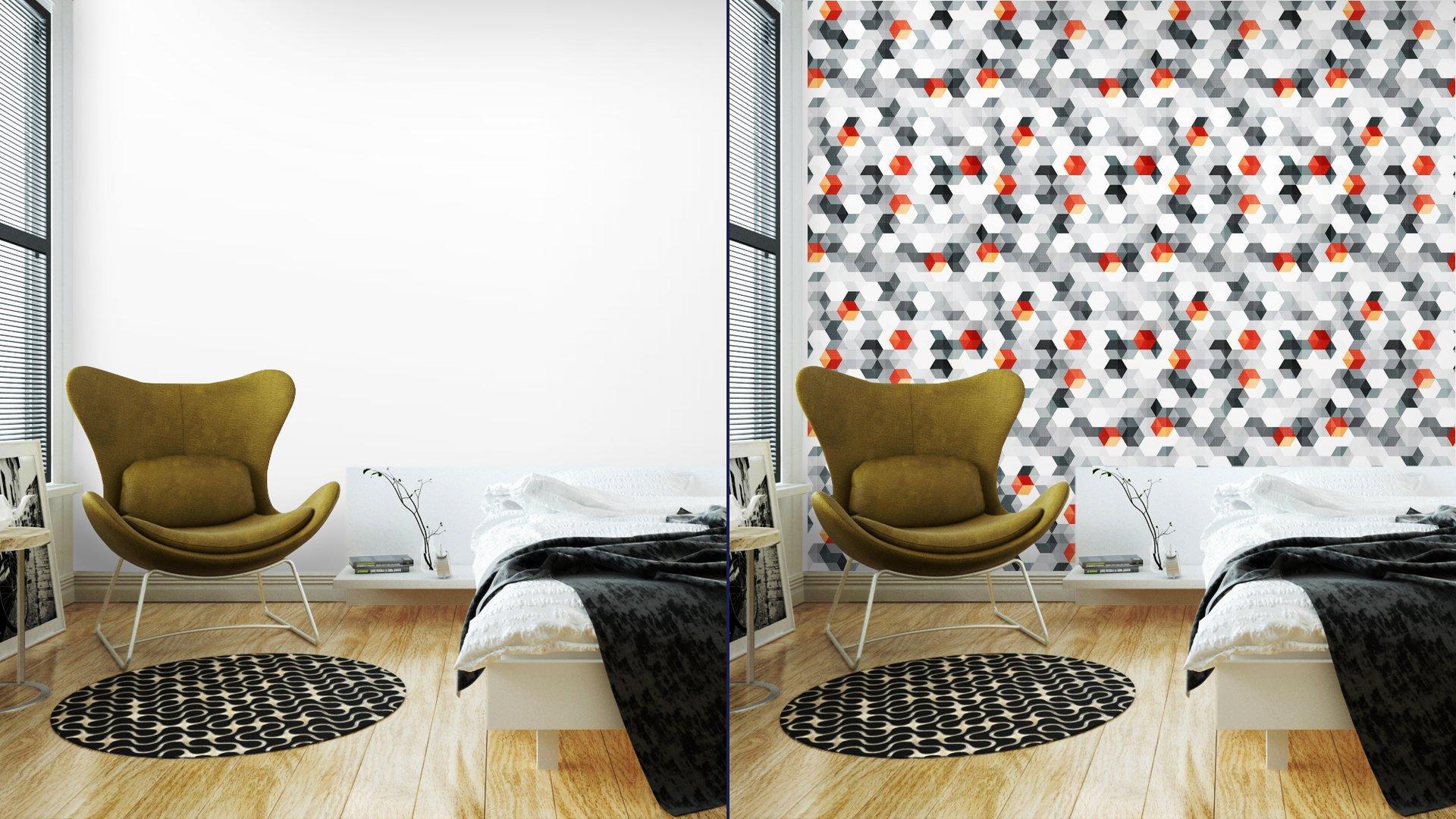 Fotomurales mexico papeles pintados cubos abstractos sin fisuras patron con efecto grunge 2 - Papel Tapiz Cubos Abstractos Con Efecto Grunge 01