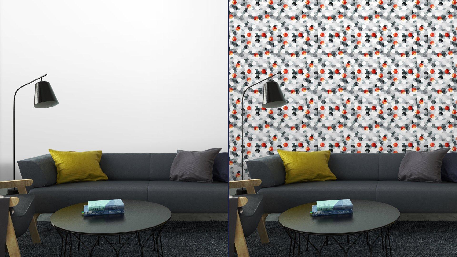 Fotomurales mexico papeles pintados cubos abstractos sin fisuras patron con efecto grunge 4 - Papel Tapiz Cubos Abstractos Con Efecto Grunge 01