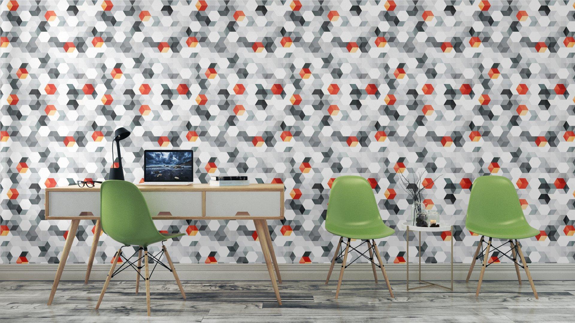 Fotomurales mexico papeles pintados cubos abstractos sin fisuras patron con efecto grunge 6 - Papel Tapiz Cubos Abstractos Con Efecto Grunge 01