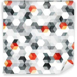 Fotomurales mexico papeles pintados cubos abstractos sin fisuras patron con efecto grunge - Papel Tapiz