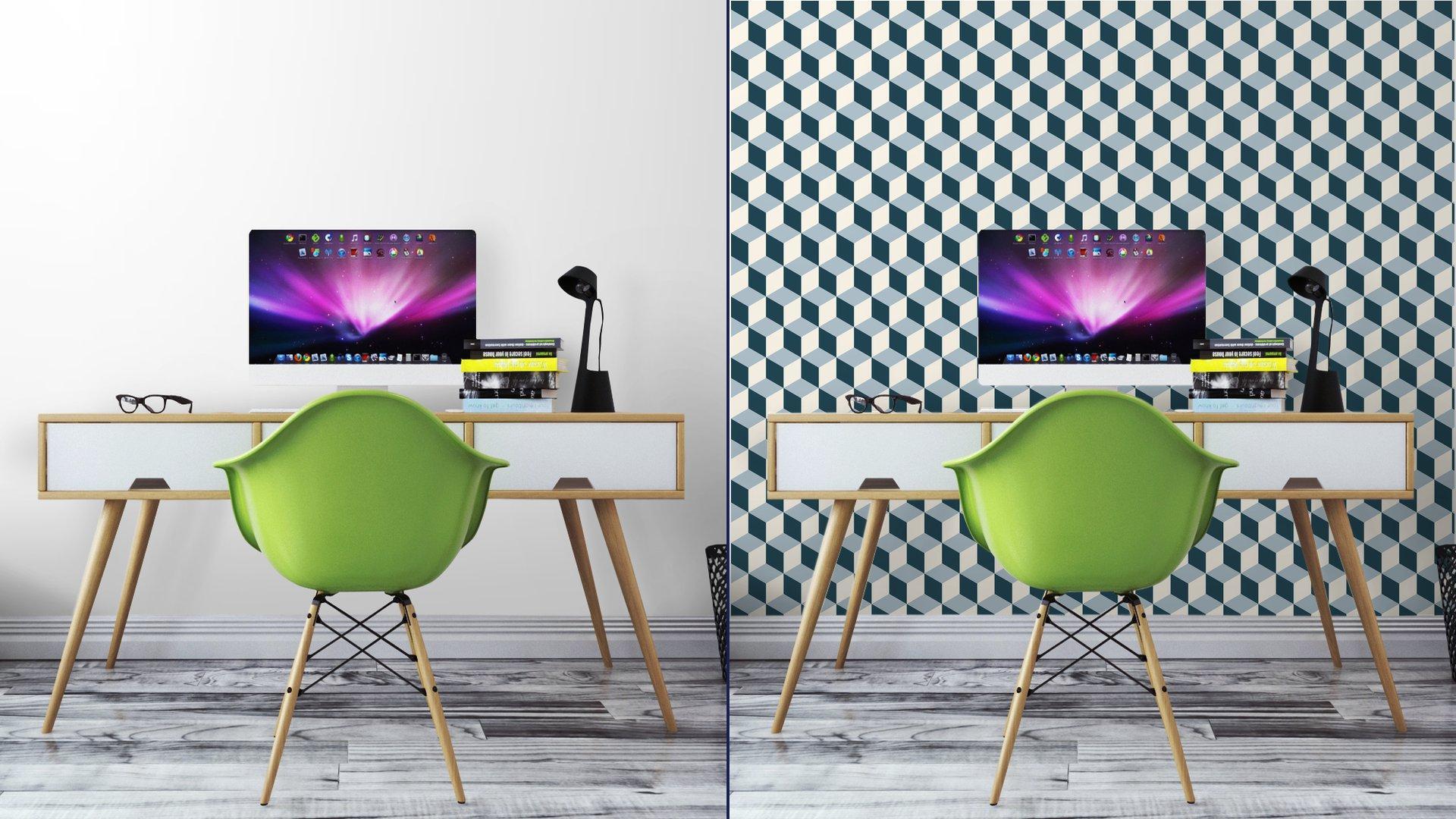 Fotomurales mexico papeles pintados cubos vendimia del fondo 3d patron vector patron de retro 5 - Papel Tapiz Patrón de Cubos 3D 01