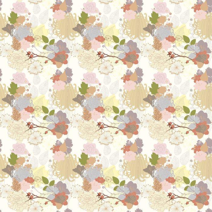 Fotomurales mexico papeles pintados de fondo sin fisuras con el ornamento botanico abstracto 1 - Papel Tapiz Floral Abstracto en Fondo Blanco 01