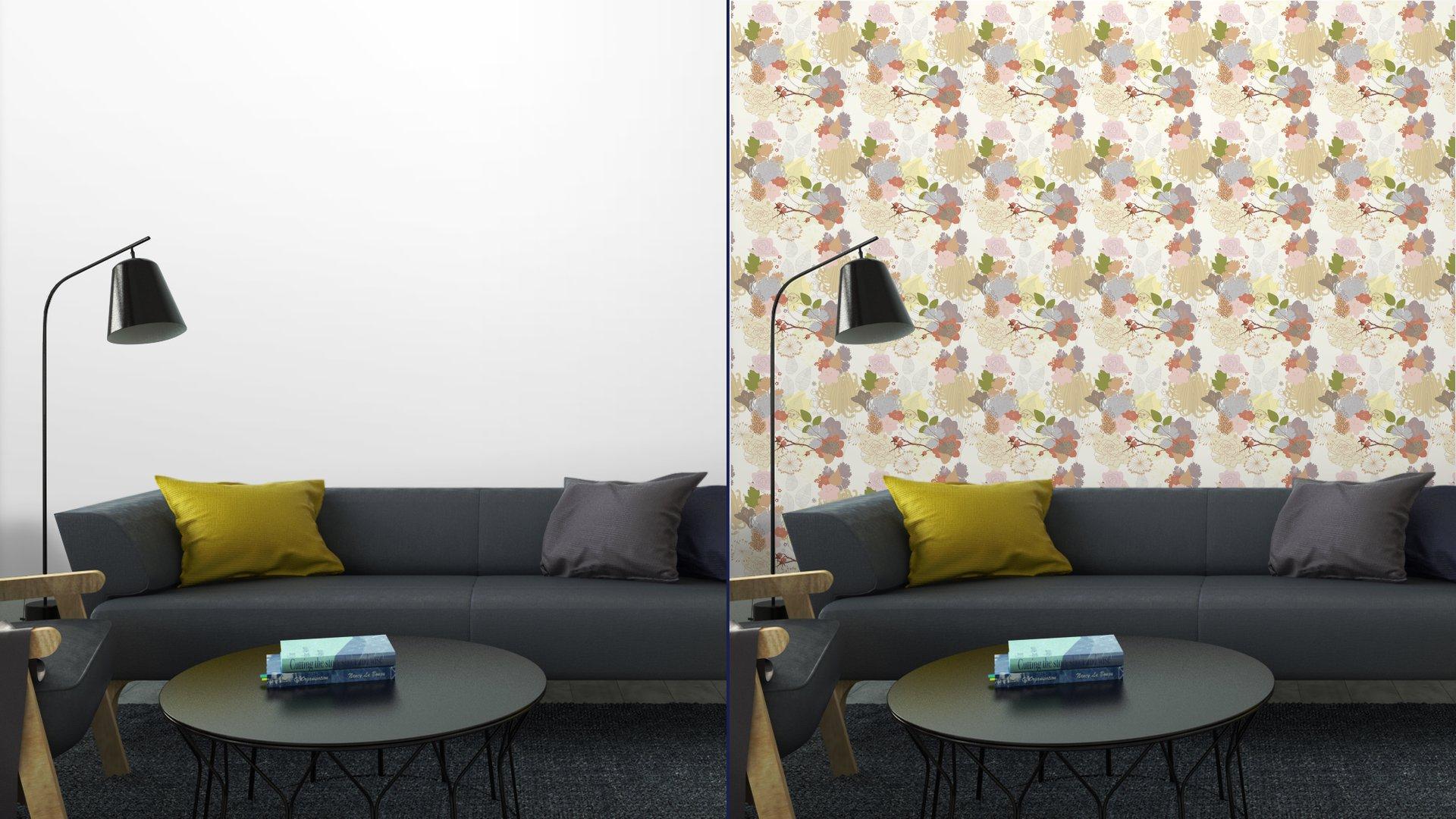 Fotomurales mexico papeles pintados de fondo sin fisuras con el ornamento botanico abstracto 5 - Papel Tapiz Floral Abstracto en Fondo Blanco 01